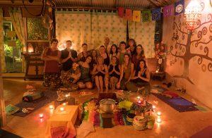 Marina Yoga students