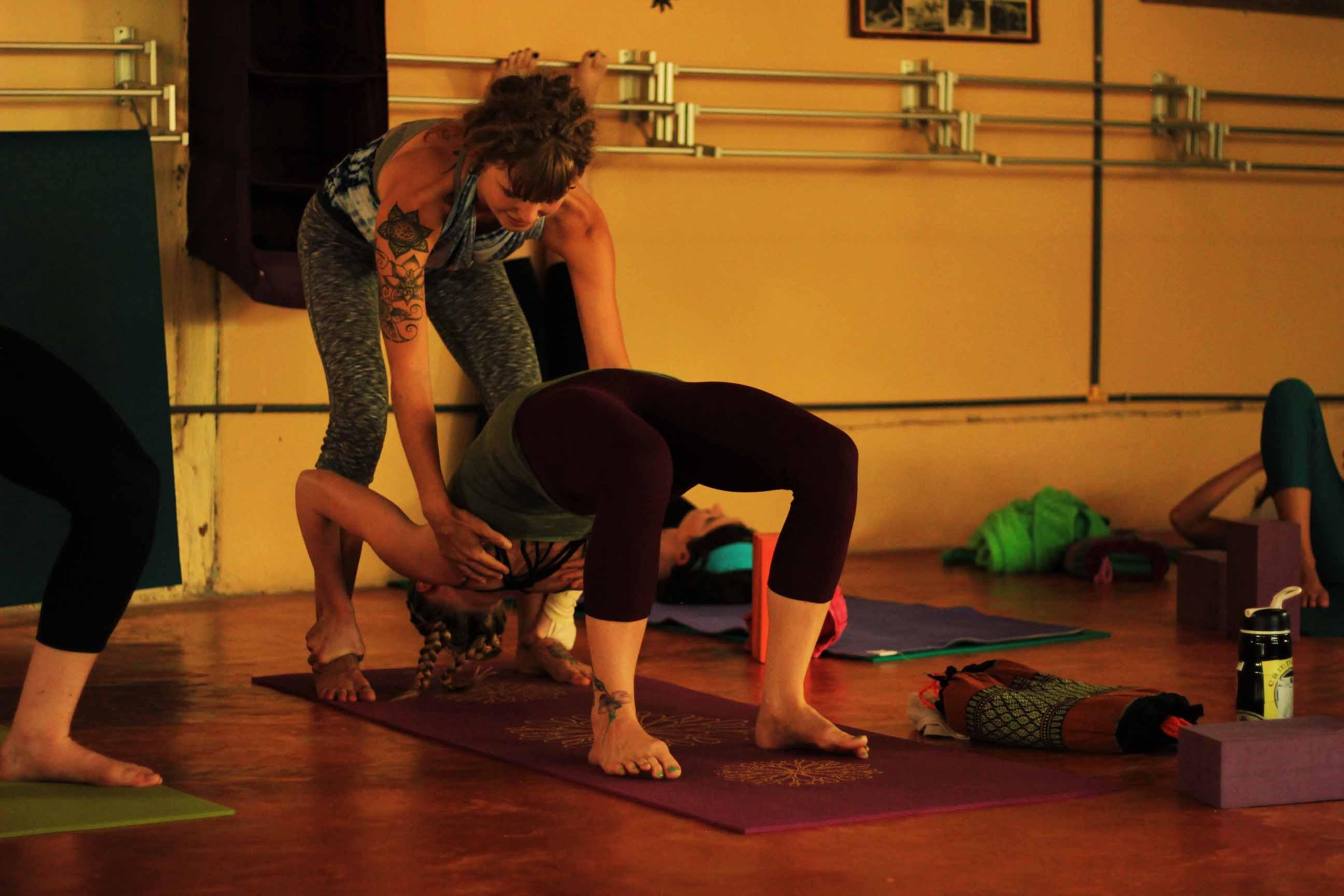 One of the yoga teachers