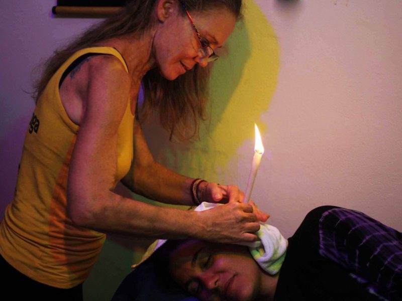Shambala Marina Yoga - ear candling session 2