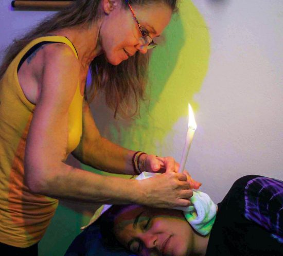 Ear Candling Session at Shambala Marina Yoga Thailand