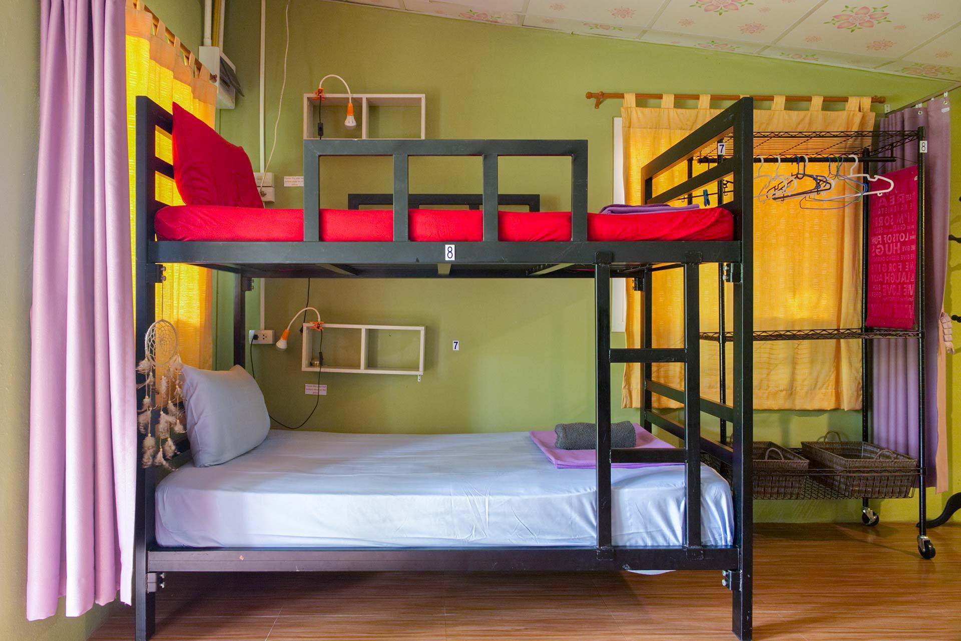 Dormitory at Shambala Yoga Guesthouse Thailand