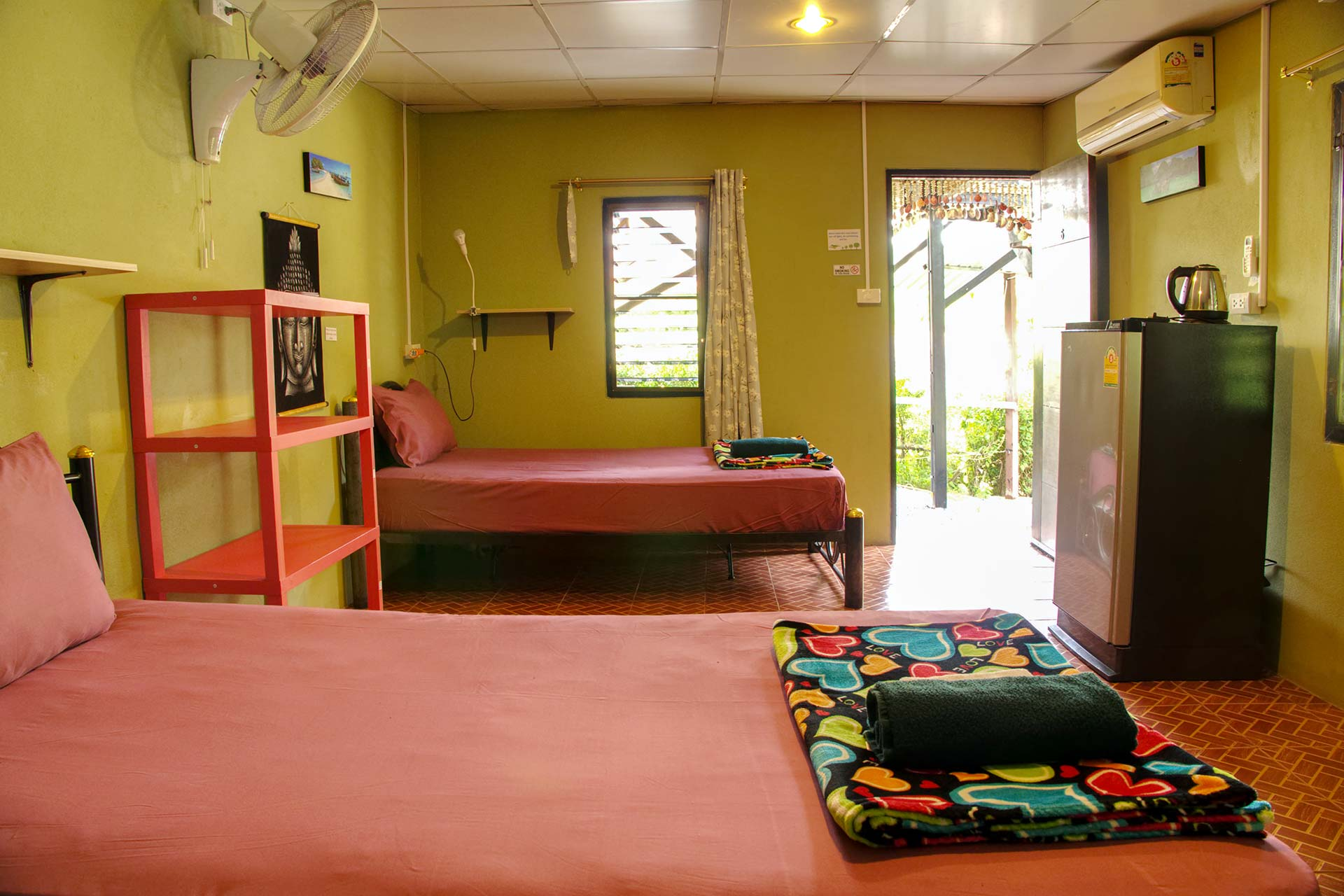 Twin Room at Yoga Guesthouse Thailand